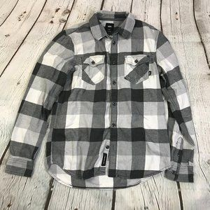 Vans Off The Wall Plaid Check Flannel Shirt Small